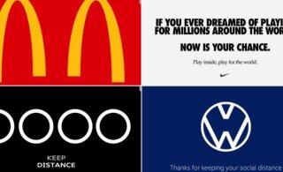 Maailma suurfirmad muutsid viirusest põhjustatud olukorra toetuseks logosid, ekspertidelt saavad nad aga hagu alla
