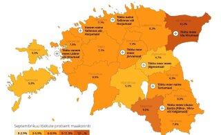 ГРАФИК | Образованная женщина из Таллинна и не владеющий эстонским мужчина из Ида-Вирумаа: какое лицо имеет безработица в Эстонии