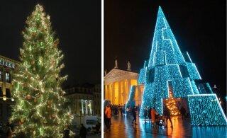 Голосуем! Где самая красивая рождественская елка — в Таллинне, Риге или Вильнюсе?