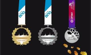 Tallinna Maratoni ja Sügisjooksu osalejad saavad kaela kaunid medalid