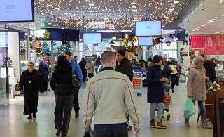 Narva ostukeskused on suletud piiri tõttu kaotanud viiendiku käibest
