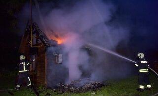 В Мууга при пожаре погиб мужчина