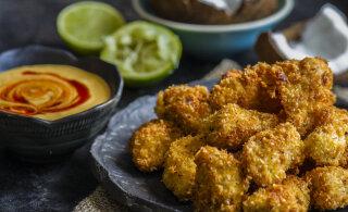 Gluteenivaba toit — kookoshelvestes paneeritud kananagitsad