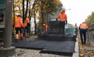 В Таллинне положили асфальт из пластиковых отходов