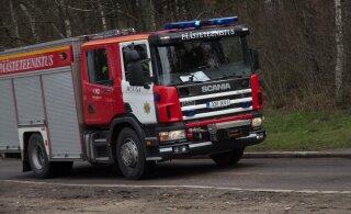 В Пыхья-Таллинне горел трехэтажный дом