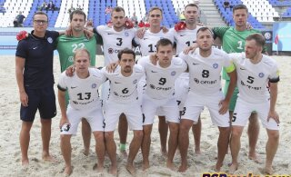 ВИДЕО: Эстонские пляжники забили два мяча россиянам, но проиграли