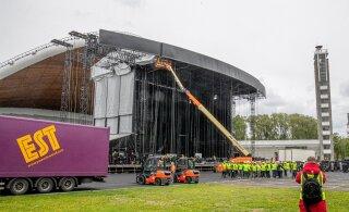 ФОТО: На Певческом поле активно готовятся к приезду Bon Jovi