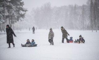 FOTOD | Suur osa Eestist on kaetud lumevaibaga, tuleva nädala lõpus töötavad lumemöldrid taas