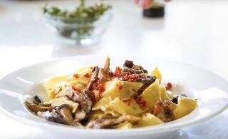 ÕHTUSÖÖGI KIIRABI | Kreemine pasta seente ja Proscuitto singiga
