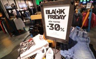 ФОТО | Жители Эстонии ринулись в торговые центры на Черную пятницу