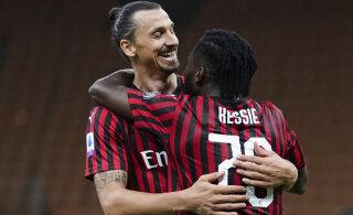 Zlatan Ibrahimovici värav alustas Milani suurt tagasitulekut, Ronaldo ja Juventus pidid platsilt noruspäi lahkuma