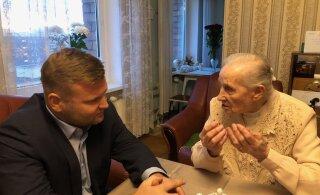 ФОТО: Жительница Мустамяэ отпраздновала 100-летний юбилей