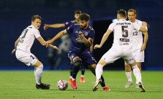 OTSEBLOGI JA FOTOD | Flora kaotas Euroopa liiga play-off'is Zagrebi Dinamole esimese poolaja kahe väravaga