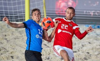 ВИДЕО: Эстония забила в пляжном футболе два мяча России, но проиграла