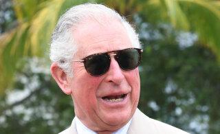 FOTOD | Pole paha! 70-aastane prints Charles hullab lainetes ja näitab üllatavalt head rannatoonust