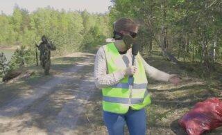 DELFI VIDEO | 30 relvastatud inimest käisid Raku järve poolsaart koristamas