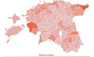 KAART | Vaata, millised nakatumisnäitajad on Eesti valdades ja linnades