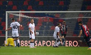 Kaks korda eduseisu käest andnud Cagliari kaotas, Klavan väljakule ei pääsenud