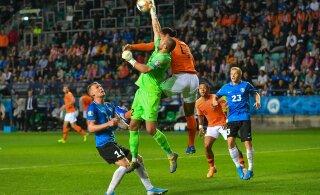 Сборная Эстонии заработала первое очко в отборочном турнире