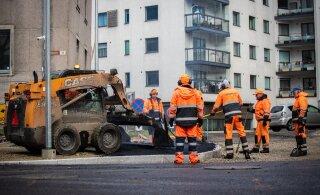 В Кристийне и Хааберсти начался ремонт внутриквартальных проездов