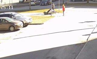 ВИДЕО | В Ласнамяэ велосипедист сбил женщину. Полиция ищет свидетелей