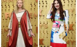 FOTOD   Tagasivaade ajalukku ja poolikuks jäänud maal: kõige silmapaistvamad riietused Emmyde punasel vaibal