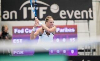 Selgus Anett Kontaveiti vastane Stuttgarti turniiri teises ringis