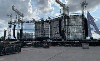 ГАЛЕРЕЯ: К концерту Metallica почти всё готово! Почему сцена без крыши?