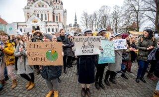 """""""Andke meile tulevik tagasi!"""" Noored protestisid parema kliima eest"""