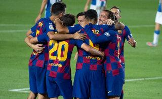 VIDEO | Barcelona püsib tiitliheitluses, Suarezest sai klubi ajaloo kolmas väravakütt