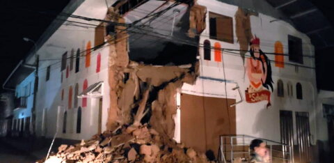ФОТО и ВИДЕО: Землетрясение в Перу привело к разрушениям