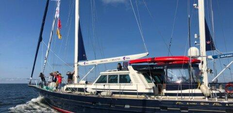 "ФОТО и ВИДЕО | ""Антарктика 200"": парусник «Адмирал Беллинсгаузен» покинул Эстонию"