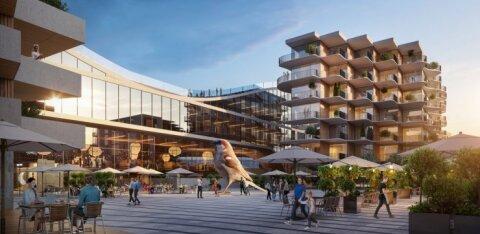 ФОТО и ВИДЕО | Смотрите, вот новый стильный образ Центрального рынка — с гигантским воробьем!