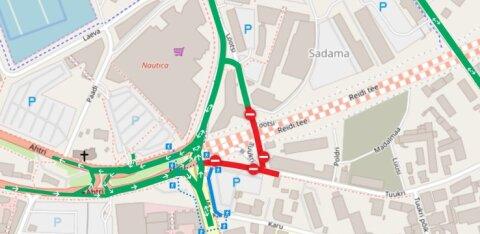 Tallinna sadama ümbruses avatakse täna mitu sõiduteed