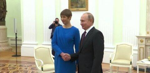ВИДЕО DELFI | Встреча в московском Кремле президентов ЭР и РФ Керсти Кальюлайд и Владимира Путина