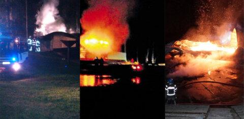 ФОТО | Скандальные поджоги: в Эстонии и ранее поджигали певческие сцены. А также церкви, похоронное бюро и центр беженцев
