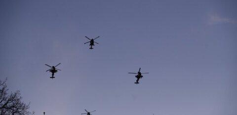 ФОТО: Вертолеты союзников низко полетали над Таллинном, взбудоражив жителей столицы