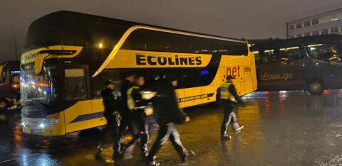ФОТО и ВИДЕО | Пьяный водитель на автобусе Ecolines таранил LuxExpress на таллиннском автовокзале