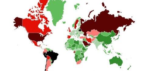 КАРТА | В каких странах распространение коронавируса взято под контроль? Возвращаясь оттуда, не нужно сидеть две недели на карантине