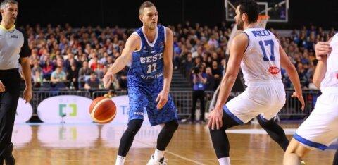 ФОТО| Хорошо стартовавшие эстонские баскетболисты уступили итальянцам
