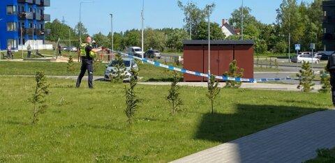 ФОТО | В Тарту мужчина бросил сумку на террасу жилого дома и сообщил, что в ней бомба