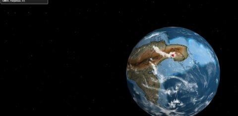 Kus asus su kodulinn 105 miljoni aasta eest? Aga 750 miljoni? Vaata seda kaardil!