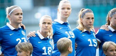 Эстонские футболистки заработали первое очко в отборочном турнире
