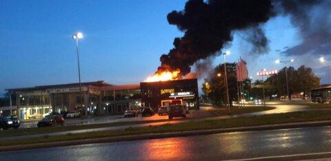 ФОТО и ВИДЕО: В представительстве BMW в Таллинне случился пожар
