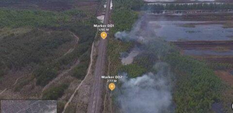Ida-Virumaal põleb ligi viis hektarit turvast