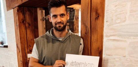 ФОТО: Спортсмены Эстонии поблагодарили медицинских работников