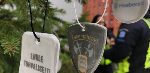 ФОТО | Будь видимым! В Хааберсти засверкали деревья с отражателями