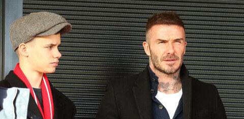 Romeo Beckham astus isa ja venna jälgedes, lastes teha endale kehakaunistuse