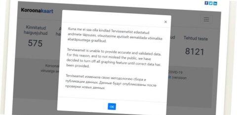 Eesti koroonakaart pandi kinni