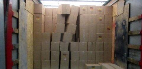 ФОТО | В Латвию пытались контрабандой ввезти из России около миллиона пачек сигарет